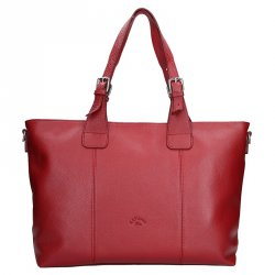 Elegantní dámská kožená kabelka Katana Silvia - červená