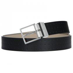 Černý kožený pánský opasek Calvin Klein Vitel