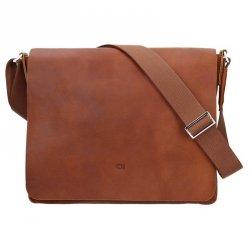 Kožená pánská taška Daag SMASH 75 - hnědá