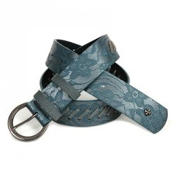 Modrý dámský opasek Doca 54659