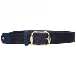 Modrý dámský opasek Doca 54708 - 110 cm