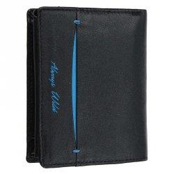 Pánská kožená peněženka Always Wild Ernest - černo-modrá