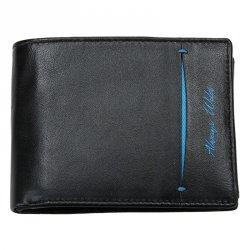 Pánská kožená peněženka Always Wild Filip - černo-modrá