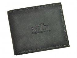Pánská kožená peněženka Always Wild Karel - černá