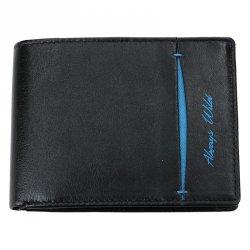Pánská kožená peněženka Always Wild Tibor - černo-modrá