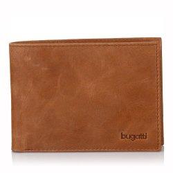 Pánská kožená peněženka Bugatti Edvin - hnědá