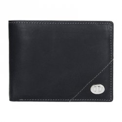 Pánská kožená peněženka DD Anekta Jonáš - černá