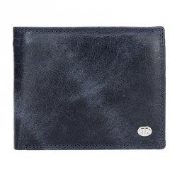 Pánská kožená peněženka DD Anekta Robin - modrá