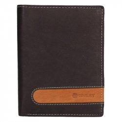 Pánská kožená peněženka Diviley Marco - hnědá