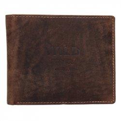 Pánská kožená peněženka Diviley Wild David - hnědá