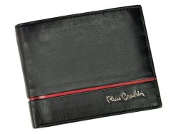 Pánská kožená peněženka Pierre Cardin Michel - černo-červená