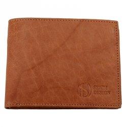 Pánská kožená peněženka SendiDesign SNW6856 - světle hnědá