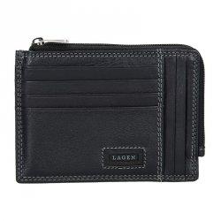 Pánská kožená slim peněženka Lagen Rudolf - černá