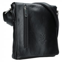 Pánská kožená taška Delami Stefano - černá