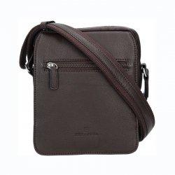 Pánská kožená taška na doklady Hexagona Bredy - hnědá