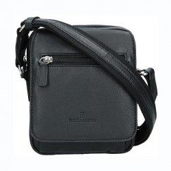 Pánská kožená taška na doklady Hexagona Monet - černá