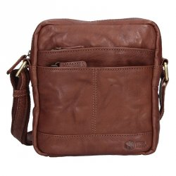 Pánská kožená taška na doklady SendiDesign Daniele - tmavě hnědá
