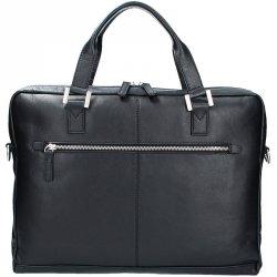 Pánská kožená taška přes rameno Bugatti Manhattan - černá