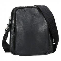 Pánská kožená taška přes rameno Gérard Henon Minimalix - černá