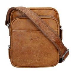 Pánská kožená taška přes rameno Gérard Henon Outland - hnědá