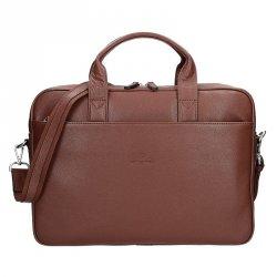 Pánská kožená taška přes rameno Hexagona Tango - hnědá