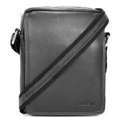 Pánská kožená taška přes rameno SendiDesign IG006 - černá