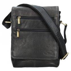 Panská kožená taška přes rameno SendiDesign Maxim - černá