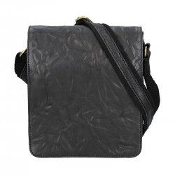 Pánská kožená taška přes rameno SendiDesign Stefano - černá