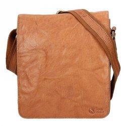 Pánská kožená taška přes rameno SendiDesign Stefano - světle hnědá