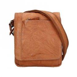 Pánská kožená taška přes rameno SendiDesign Timmy - světle hnědá