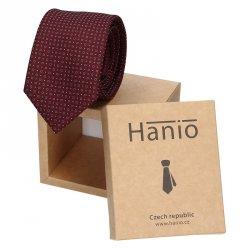 Pánská kravata Hanio Apolon - vínová