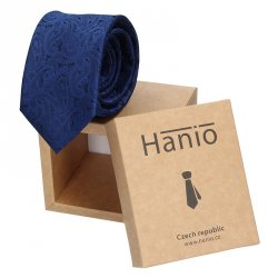 Pánská kravata Hanio Artis - tmavě modrá