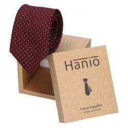 Pánská kravata Hanio Hubert - vínová
