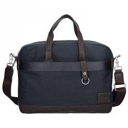 Pánská pracovní taška Lerros Almont - modro-hněda