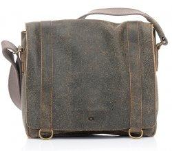 Dámská kožený kabelka Lagen Stela - hnědo-šedá