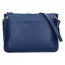 Trendy dámská kožená crossbody kabelka Facebag Nicol - modrá