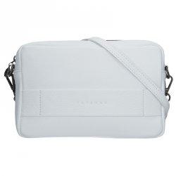 Trendy dámská kožená crossbody kabelka Facebag Nina - bílá