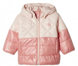 adidas Dívčí prošívaná bunda - růžová, 98 cm