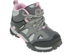 Beppi Dívčí outdoorové boty - šedo-růžové, EUR 34