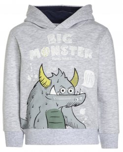 Blue Seven Chlapecká mikina Monster - šedá, 110 cm