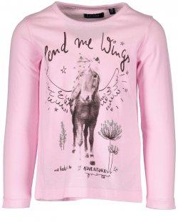 Blue Seven Dívčí tričko s koněm - růžové, 110 cm