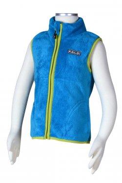 PIDILIDI Chlapecká fleecová vesta - modrá, 98 cm