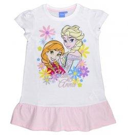 E plus M Dívčí šaty Frozen - bílo-růžové, 134 cm