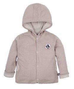 G-mini Dětský oboustranný kabátek Krtek a kolo - béžový, 68 cm