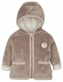 G-mini Dětský zateplený kabátek Sobík - béžový 46e4b583cc
