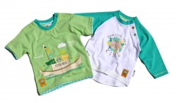 Gelati Chlapecký set 2 ks triček - bílo-zelený, 80 cm