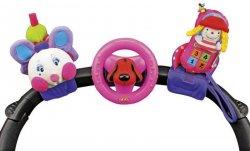 K's Kids 3 veselé hračky na přichycení suchým zipem pastelové barvy