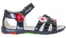 Primigi Dívčí sandály s květinami - modré, EUR 25