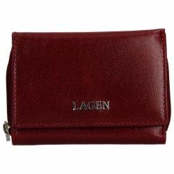 Dámská kožená peněženka Lagen Berta - vínová