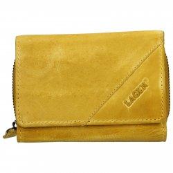 Dámská kožená peněženka Lagen Norra - žlutá